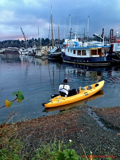 Cold Winter's Day Kayaker