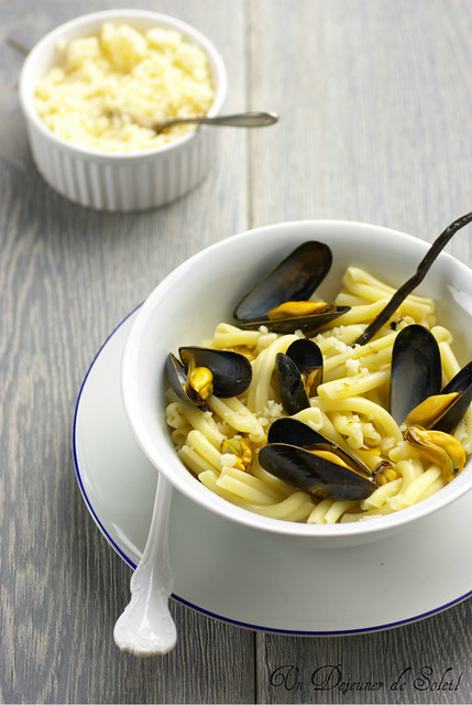 Pâtes moules et pecorino - Mussels and pecorino pasta