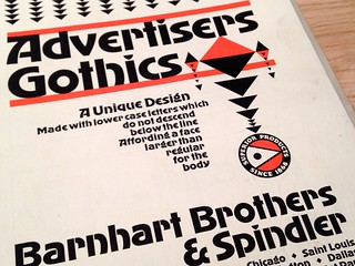 Advertisers Gothics type specimen brochure