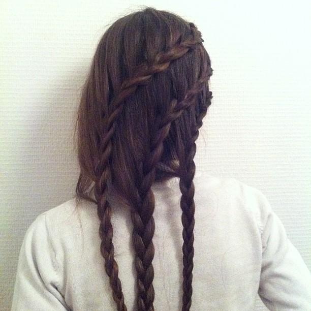 Pin trois tresses en cascade coiffure flickr photo sharing on pinterest - Tresse en cascade ...