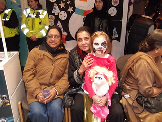 Service users and facepainting