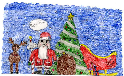 Drawing sent to Santa Claus