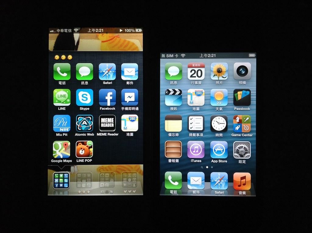 iPhone 螢幕比較