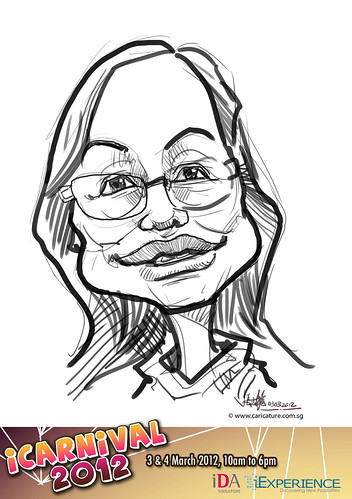 digital live caricature for iCarnival 2012  (IDA) - Day 1 - 2