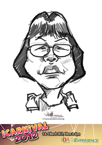 digital live caricature for iCarnival 2012  (IDA) - Day 1 - 23