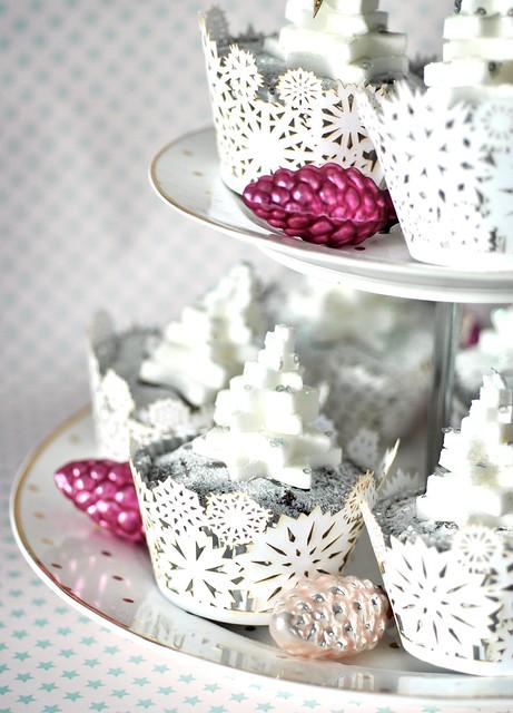 Fondant tree topped cupcakes