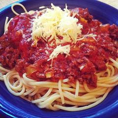 spaghetti alla puttanesca(0.0), produce(0.0), carbonara(0.0), meatball(0.0), tomato sauce(1.0), bucatini(1.0), spaghetti(1.0), pasta(1.0), pasta pomodoro(1.0), bolognese sauce(1.0), naporitan(1.0), pici(1.0), food(1.0), dish(1.0), european food(1.0), cuisine(1.0),