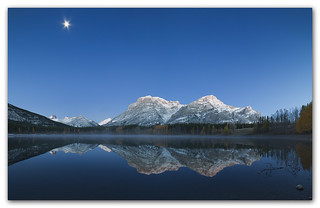 Under the Moonlight...Mt Kidd, Kananaskis Country, Alberta