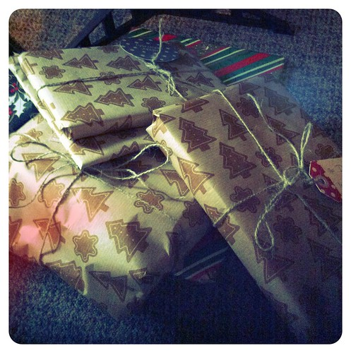 Brown paper packages tied up with string... #xmas