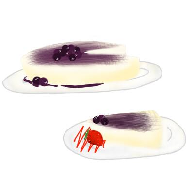 藍莓芝士凍餅(24/12/2012)