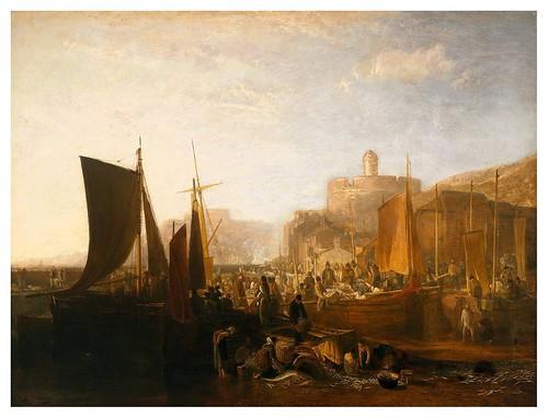 008-St Mawes en la temporada de sardina-1812-pintura al oleo- J. M. W. Turner-via tate.org.uk