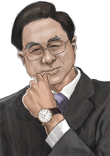digital portrait live sketching for Vacheron Constantin - 2