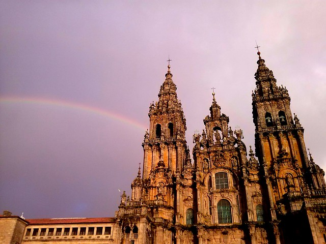 Catedral de Santiago. Nadal 2012. Posta de sol.