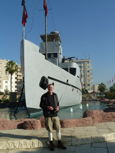 Me at the Nusret minelayer replica in Tarsus by mattkrause1969