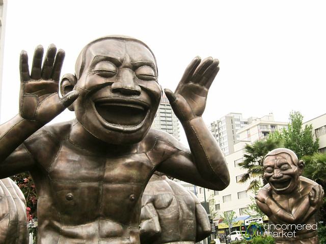 Laughing Statues, A-mazing Laughter - Vancouver, Canada