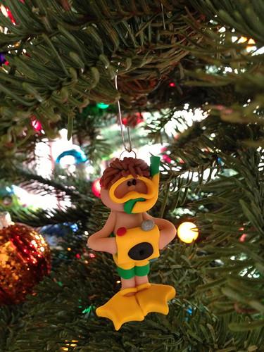 Ezra's snorkeler ornament