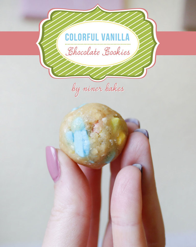 Colorful Vanilla Chocolate Chip Cookies