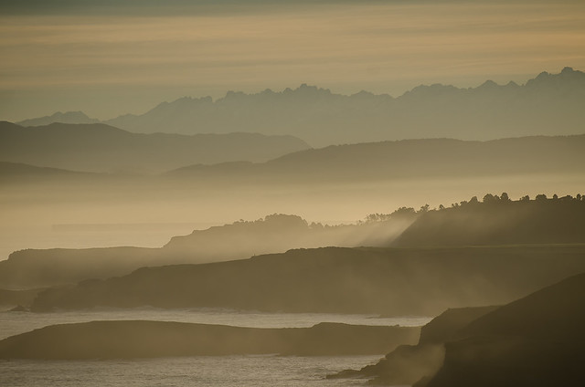 Sunrise from Cabo Peñas, Asturias