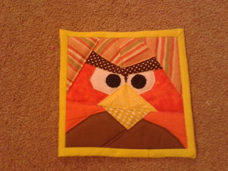 """Ginger"" Bird Mug Rug"