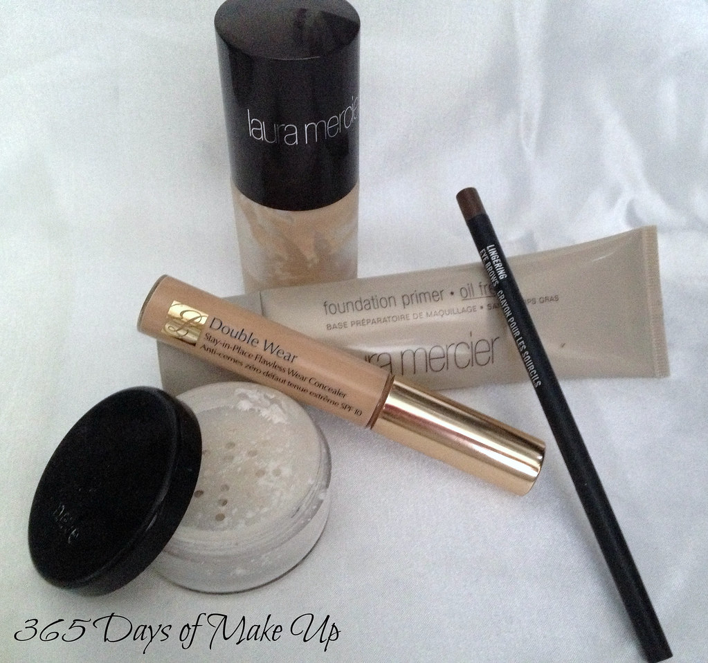 Primer, Foudation, Concealer, Powder, brow pencil