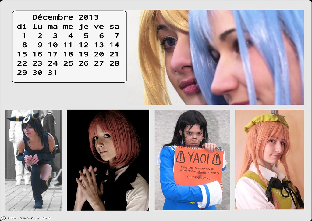 related image - Calendrier Cosplay 2013 - 12 - Décembre