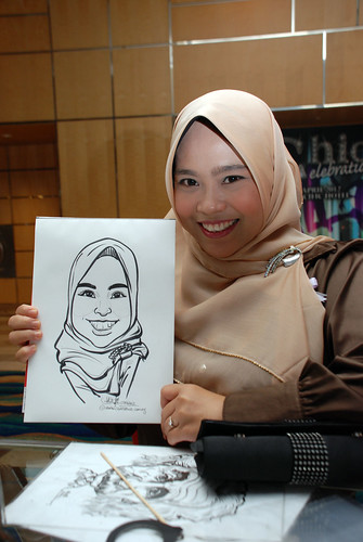 caricature live sketching for Civica Dinner & Dance 2012 - 13