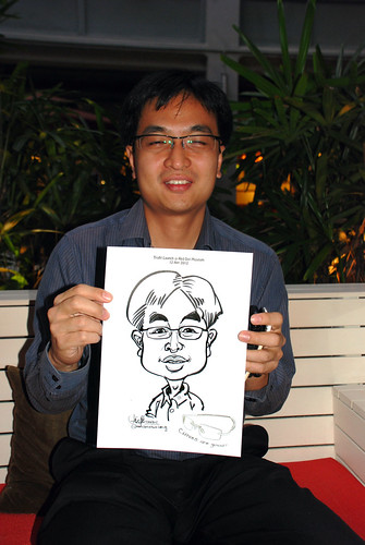 caricature live sketching for Kaleido Vision Pte Ltd Product Launch - 2
