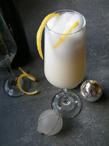 Lemon Champ | Champagne Cocktail with Lemon Sorbet by katiemetz, on Flickr