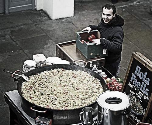 Paella - British Style- London's Covent Garden Market (Canon 6D) 100mm F2.8