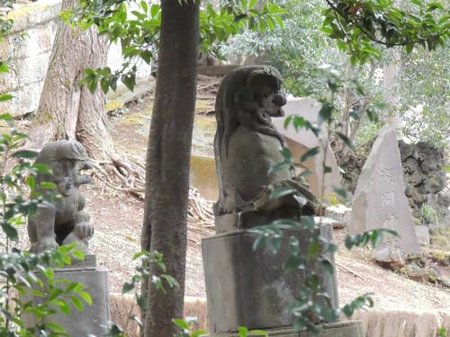 2012-12-31新宿西向天神社狛犬