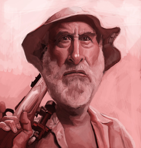 digital caricature of Dale - 2