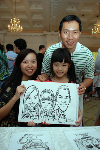 caricature live sketching for birthday party 28042012 - 12