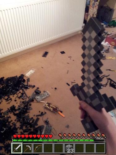 how to make a lego minecraft sword
