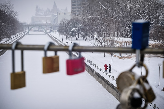 Love Padlocks, Corkstown Footbridge, Ottawa