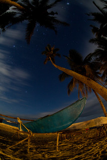 Attēls no Alona pie Tawala. longexposure travel winter sea summer sky beach nature night clouds palms stars philippines newyear fisheye panglao zenitar16mmf28 canoneos5dmarkii