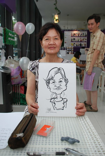 caricature live sketching for birthday party - 10