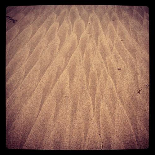 The ripple effect #patternsinthesand #bedforms #sandon #triplejroadtrip @katacular16