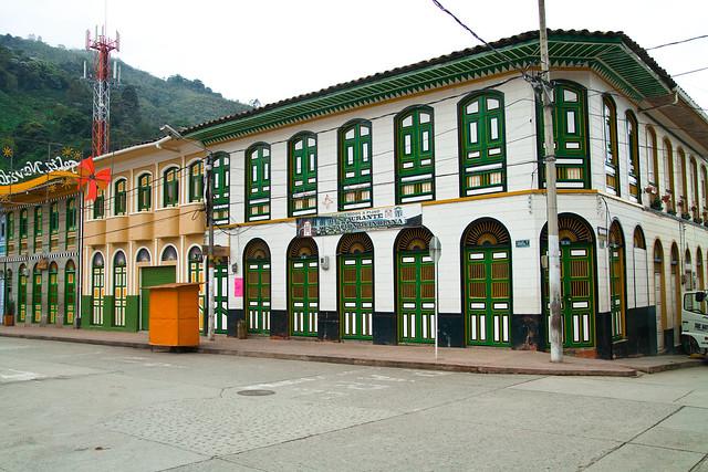 Imagen de Casas con arquitectura de la Colonización Antioqueña en Pijao, Quindio
