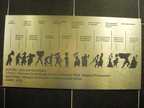"""Mosaic by William Kentridge (Johannesburg 1955) - Explanation - La stazione """"Toledo"""" della metropolitana di Napoli, inaugurata il 17.9.12 / """"Toledo"""" Underground Station in Naples, open 17.9.12"""