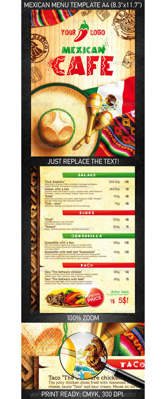 Plantillas de men s de restaurantes para descargar y editar for Disenos de menus para restaurantes