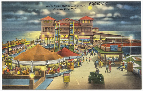 Night scene, Million Dollar Pier, Atlantic City, N. J.