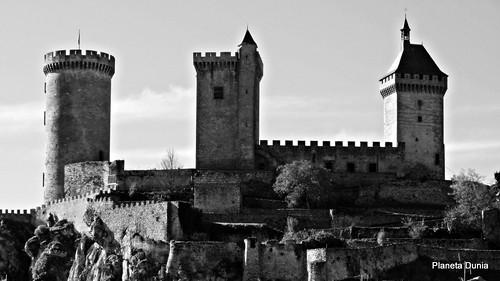 blancoynegro blackwhite francia castillo panorámica foix panoramicview châteaudefoix panasonicdmcfz150