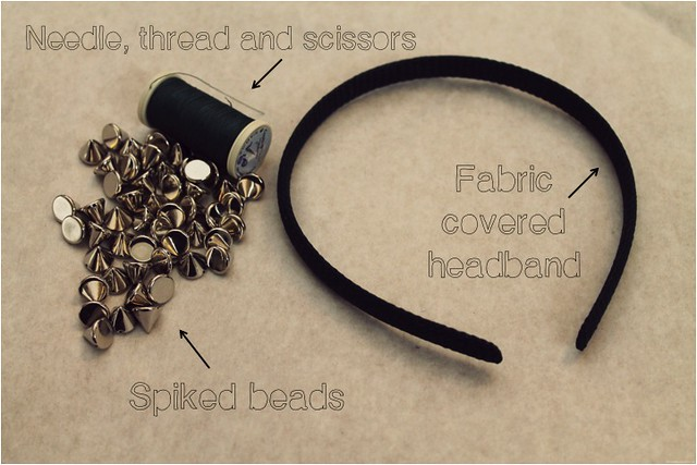 spiked headband diy 12