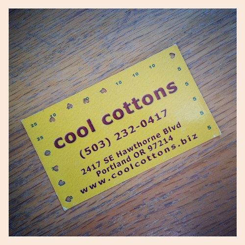 my cool cottons card