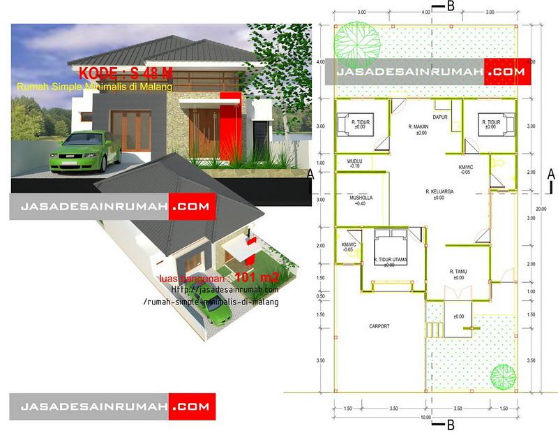 rumah simple minimalis di malang jasa desain rumah