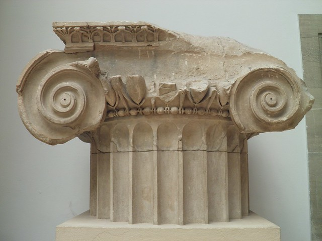 Temple of Artemis Leukophryene at Magnesia, Ionic column of the cella wall, 2nd century BC, Pergamon Museum Berlin