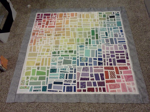 Gradated Mod Mosaic Quilt Top