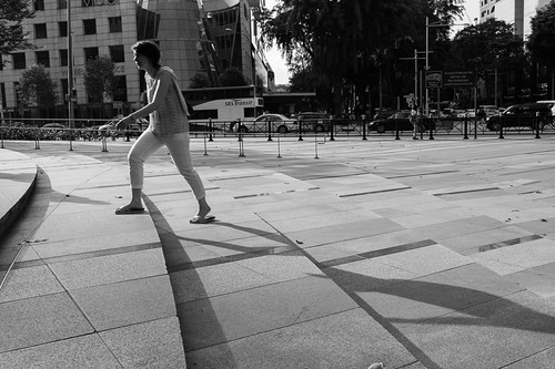 Taking the next step forward - outside Ion Orchard, Singapore.