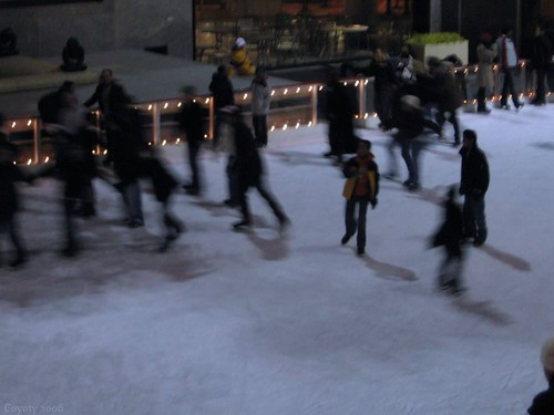 Rockefeller Center skaters by Coyoty