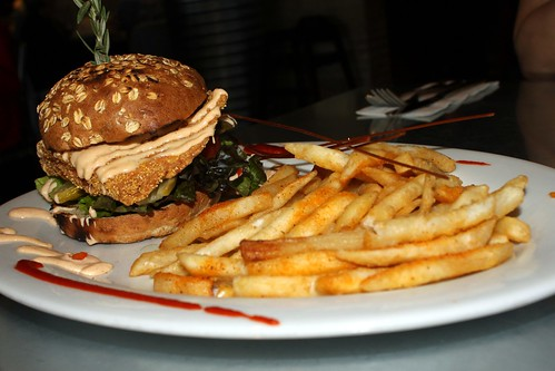 Salmon Sandwich with Fries